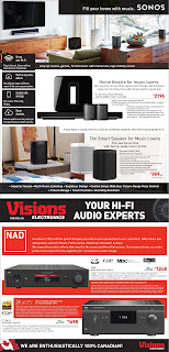 Visions electronics flyer valid February 16 - 22, 2018