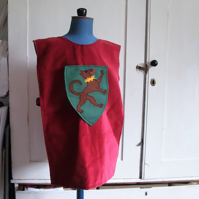 child heraldic tabard by karen vallerius