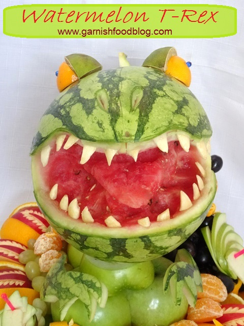 godzilla watermelon carving