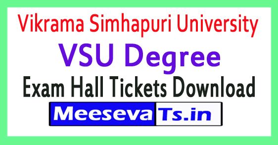 Vikrama Simhapuri University VSU Degree Exam Hall Tickets Download 2017
