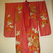 Asian Wedding Kimono Silk & Gold Embroidered Oriental Chinese Ceremony Dress