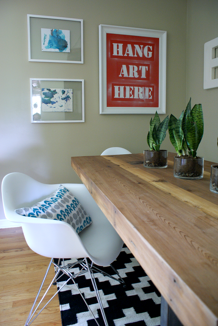 DIY eclectic dining room on a budget
