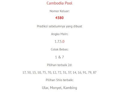 prediksi togel akurat cambodia 1 februari 2018