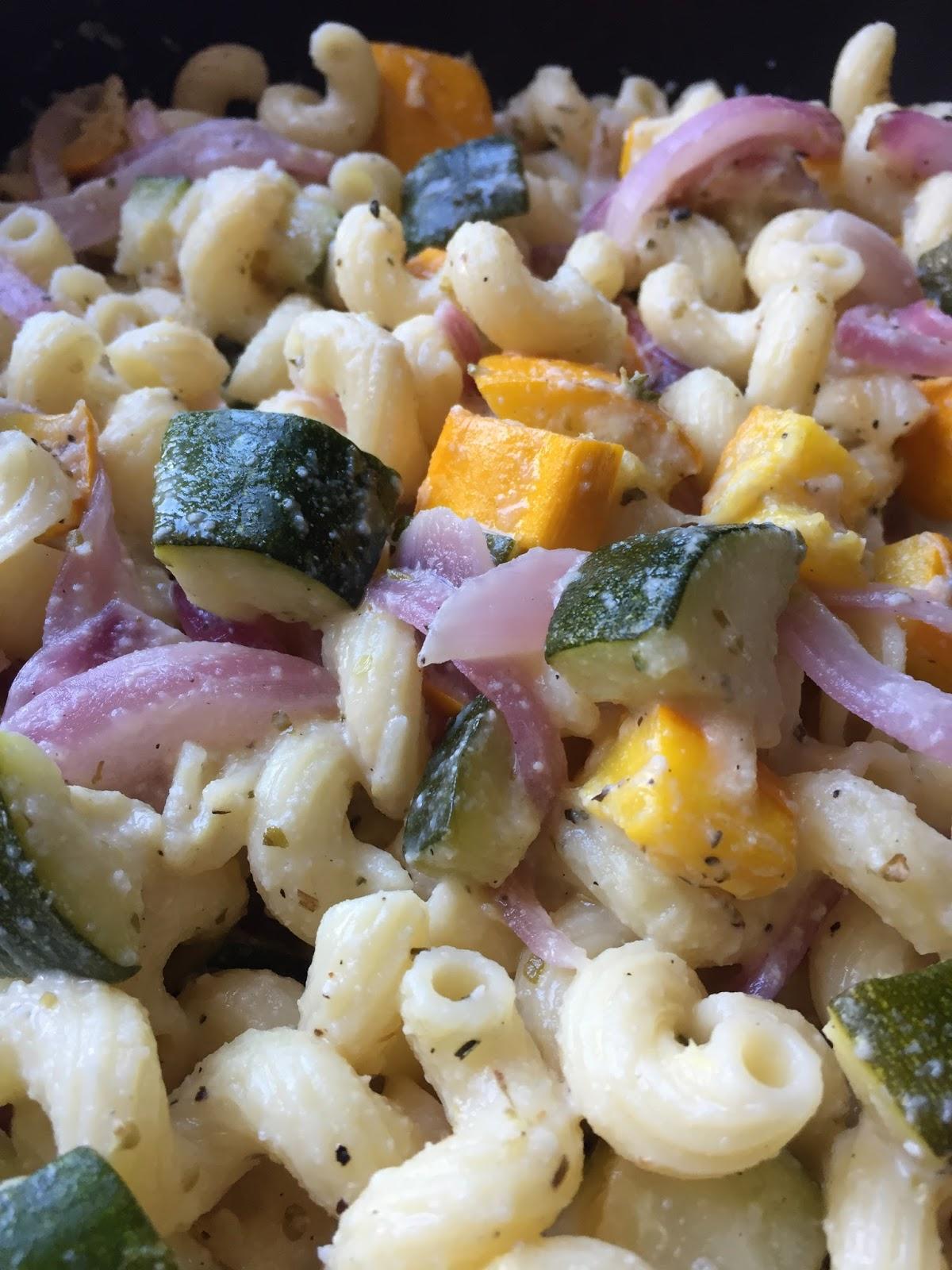Katie Cooks Dinner: ROASTED VEGGIE PASTA IN CREAMY FETA SAUCE