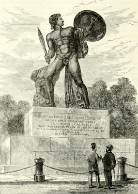 Statue of Achilles, Hyde Park  from Old and New London by E Walford (1878)