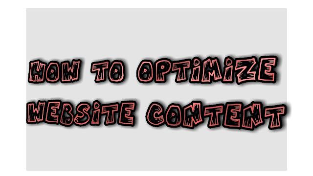 كيفية تهيئة محتوى الموقع