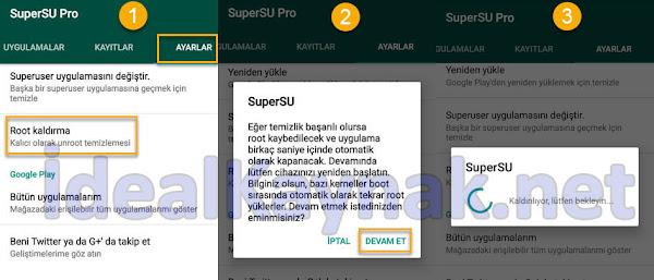 SuperSU Kullanarak Root Kaldırmak