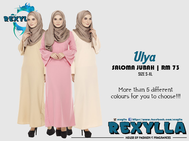 rexylla, saloma jubah, ulya collection