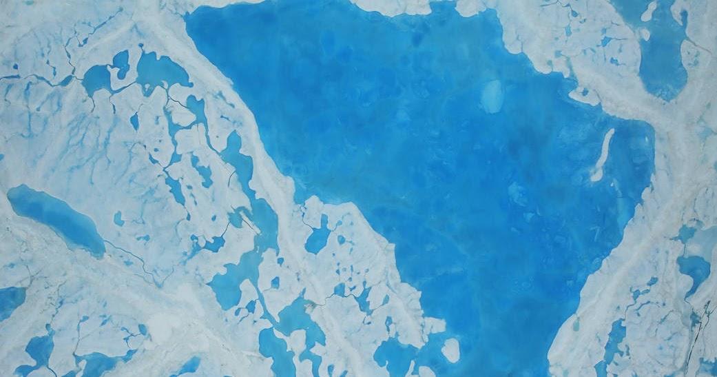 I ghiacciai del'Antartico che si staccano senza sosta -- l'ultimo pezzo grande come tutta Manhattan