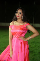 Actress Pujita Ponnada in beautiful red dress at Darshakudu music launch ~ Celebrities Galleries 046.JPG