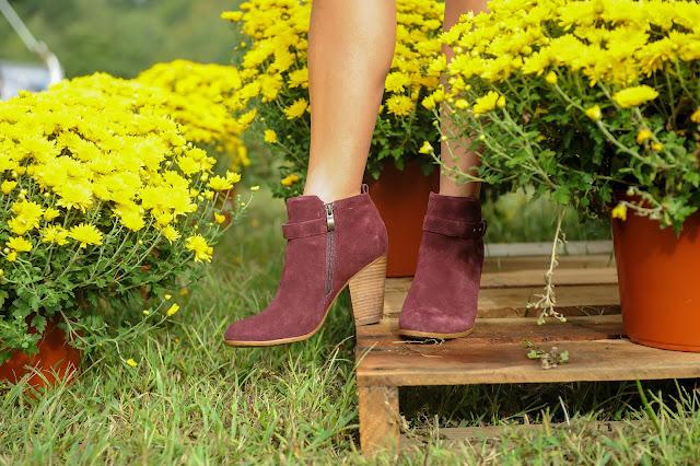 Rack Room Shoes burgundy booties