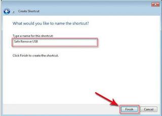 Cara Membuat shortcut Safe remove hardware