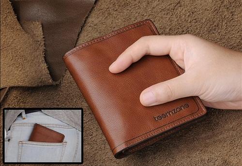 Mẫu ví được làm từ da bò xịn