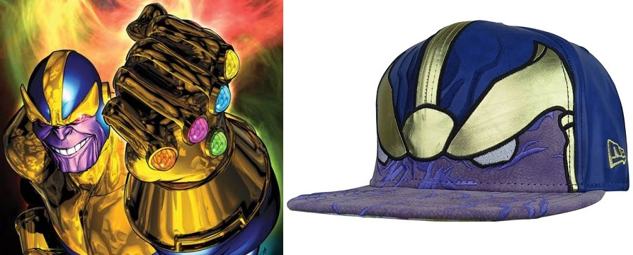 9fa68f2a348cc Thanos Armor 59Fifty Fitted Hat by Marvel x New Era Cap x Super Hero Stuff