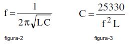 fórmulas para hallar la frecuencia y la capacidad conociendo la inductancia