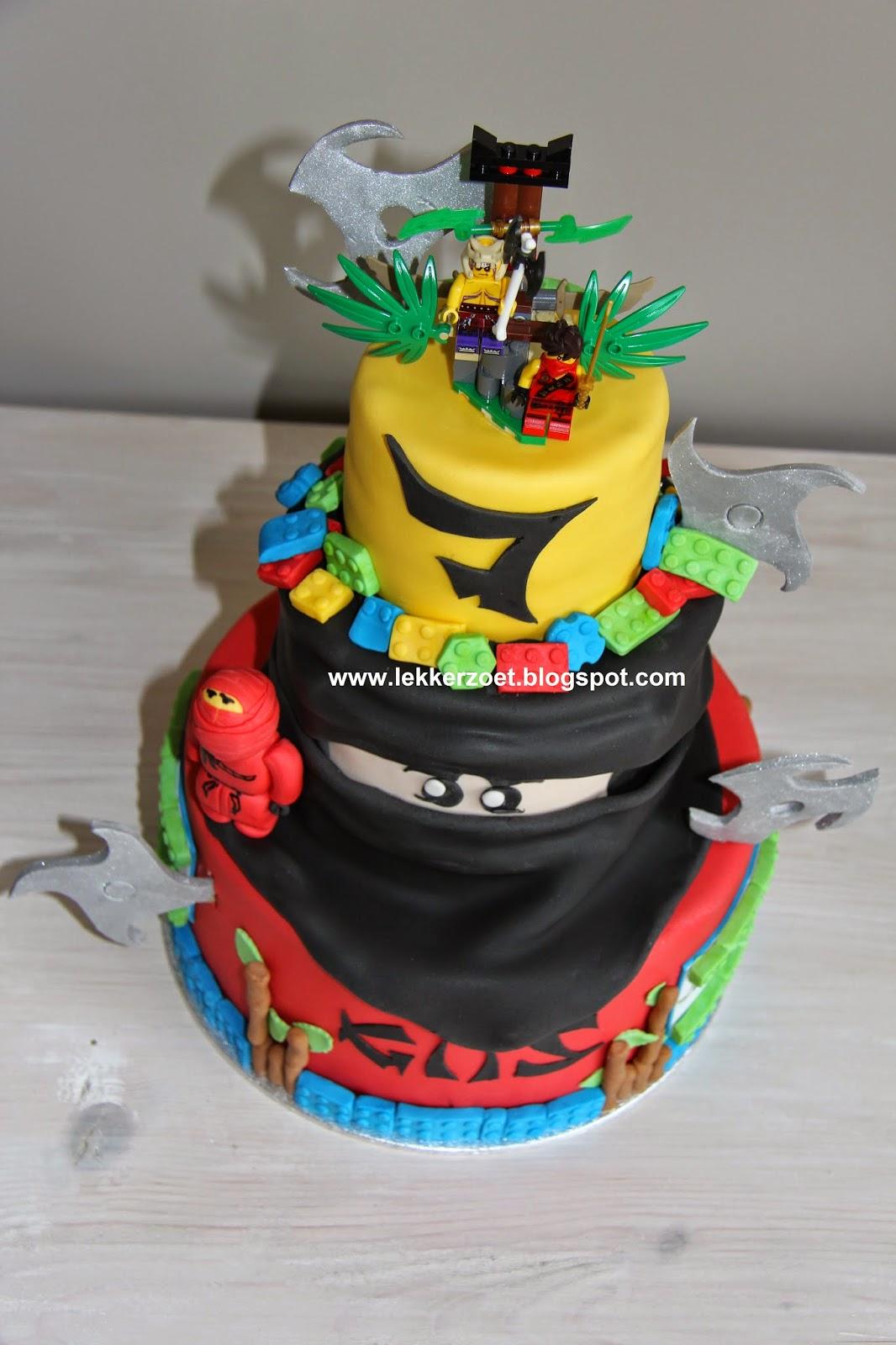 lego ninjago taart lekker zoet: Lego Ninjago taart voor Gijs 7 jaar geworden lego ninjago taart