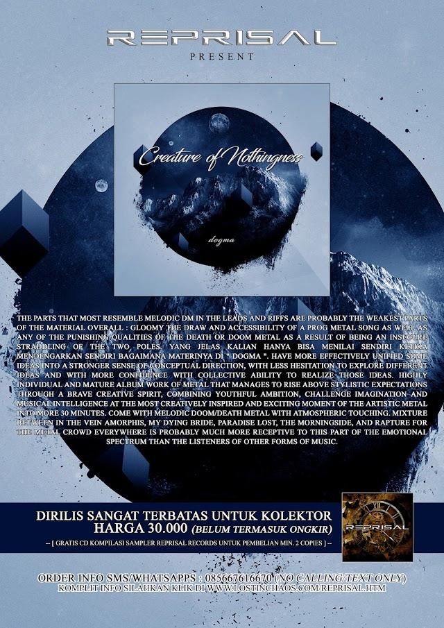 CREATURE OF NOTHINGNESS - Dogma ' CD MASIH TERSEDIA SANGAT TERBATAS !!!