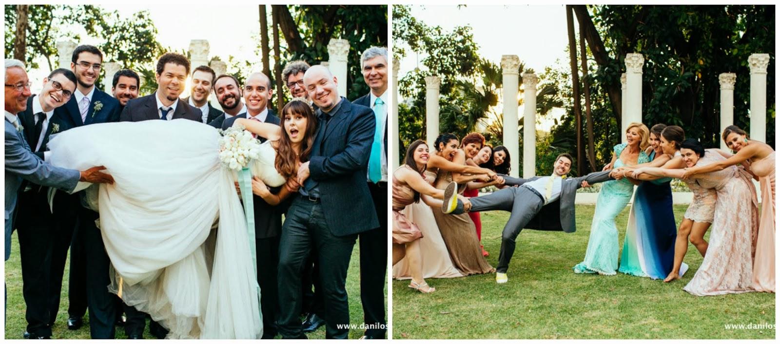 noivos - foto padrinhos - padrinhos - madrinhas - foto divertida casamento