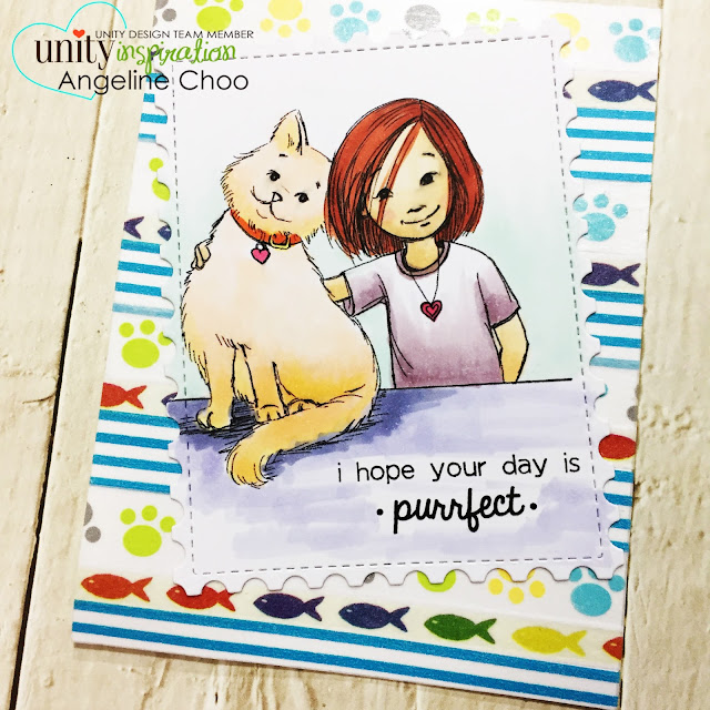 ScrappyScrappy: [NEW VIDEO] Phyllis Harris & Unity Stamp - Meow and Furever #scrappyscrappy #unitystampco #phyllisharris #card #cardmaking #papercraft #craft #crafting #youtube #quicktipvideo #copicmarkers #katscrappiness #washitape #catlover