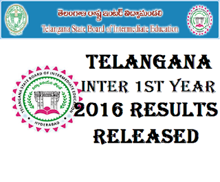 Telangana Inter 1st year 2016 Results