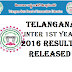Telangana Inter 1st year 2016 Results Released Date bie.telangana.gov.in