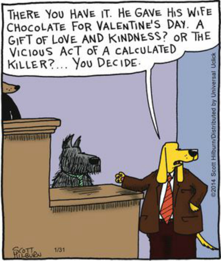 Mystery Fanfare Cartoon Of The Day Valentines Day Dog Trial