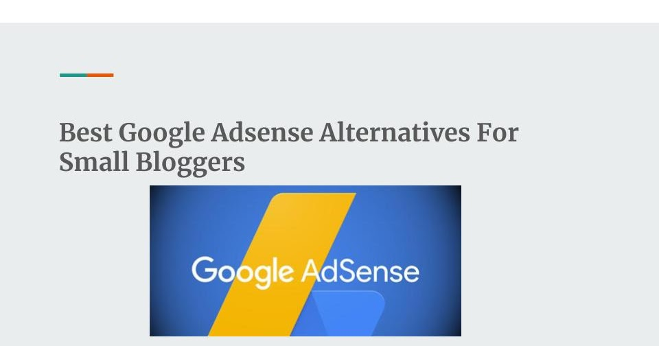 Mix Highest Paying Google Adsense Alternatives For Small Bloggers