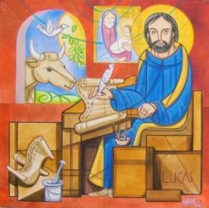 Ilustración de San Lucas - El Evangelista sentado