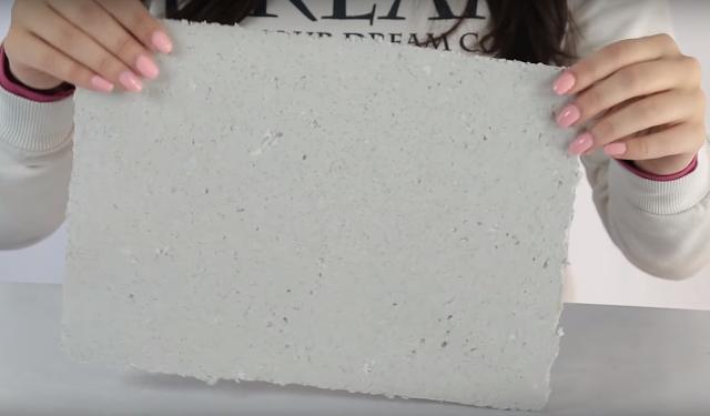 experimento, lamina, papel, reciclado, casero