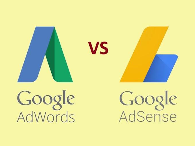 Sự khác nhau giữa Google AdWords và Google AdSense
