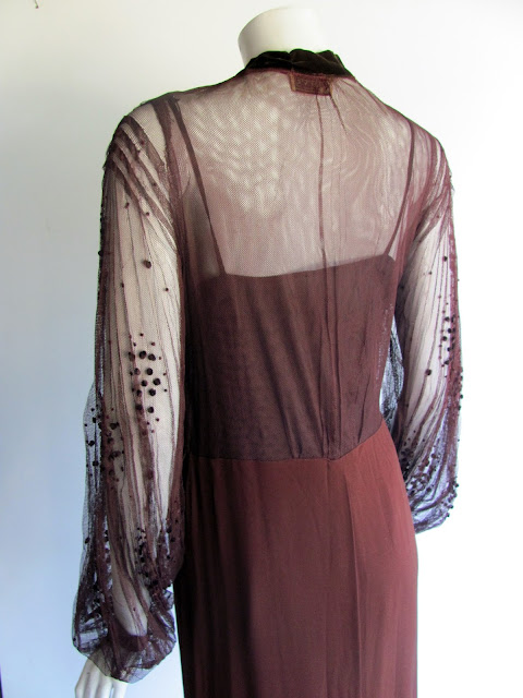 30s couture dress, by Bruyere, back view shown