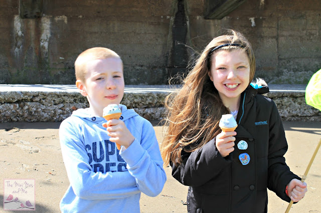 Ice creams on the beach, devon
