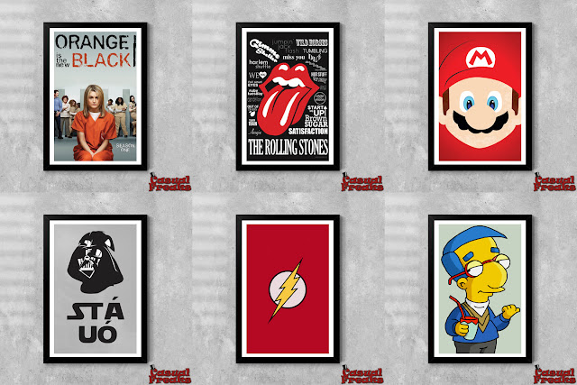 comprar posters de filmes, poster rolling stones, poster super mario, poster star wars, poster os simpsons