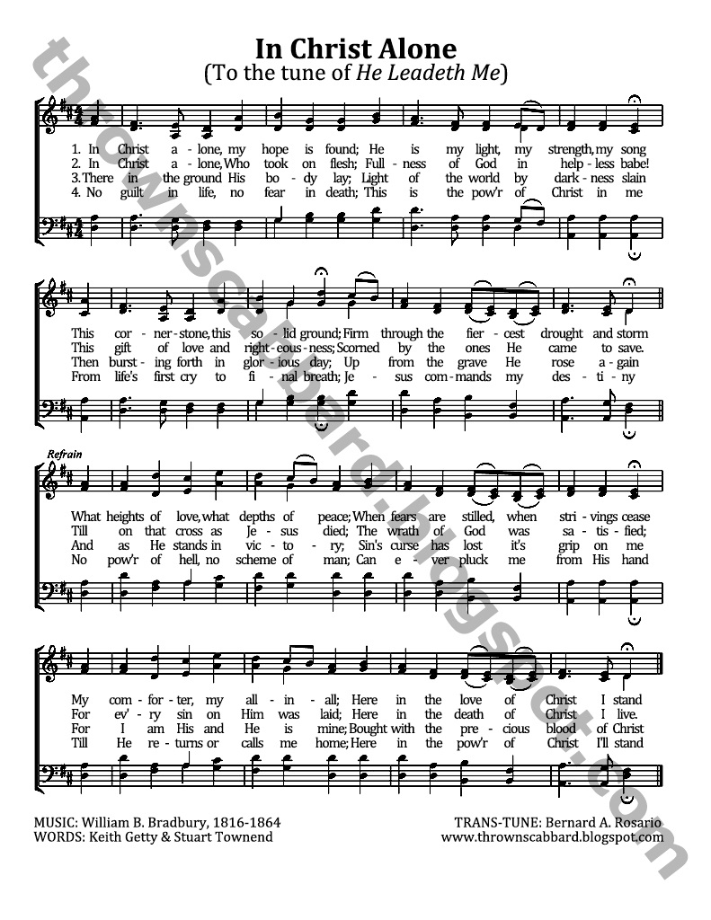 List of Synonyms and Antonyms of the Word: in christ alone hymn