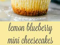 Miniature Lemon Blueberry Cheesecakes Recipe