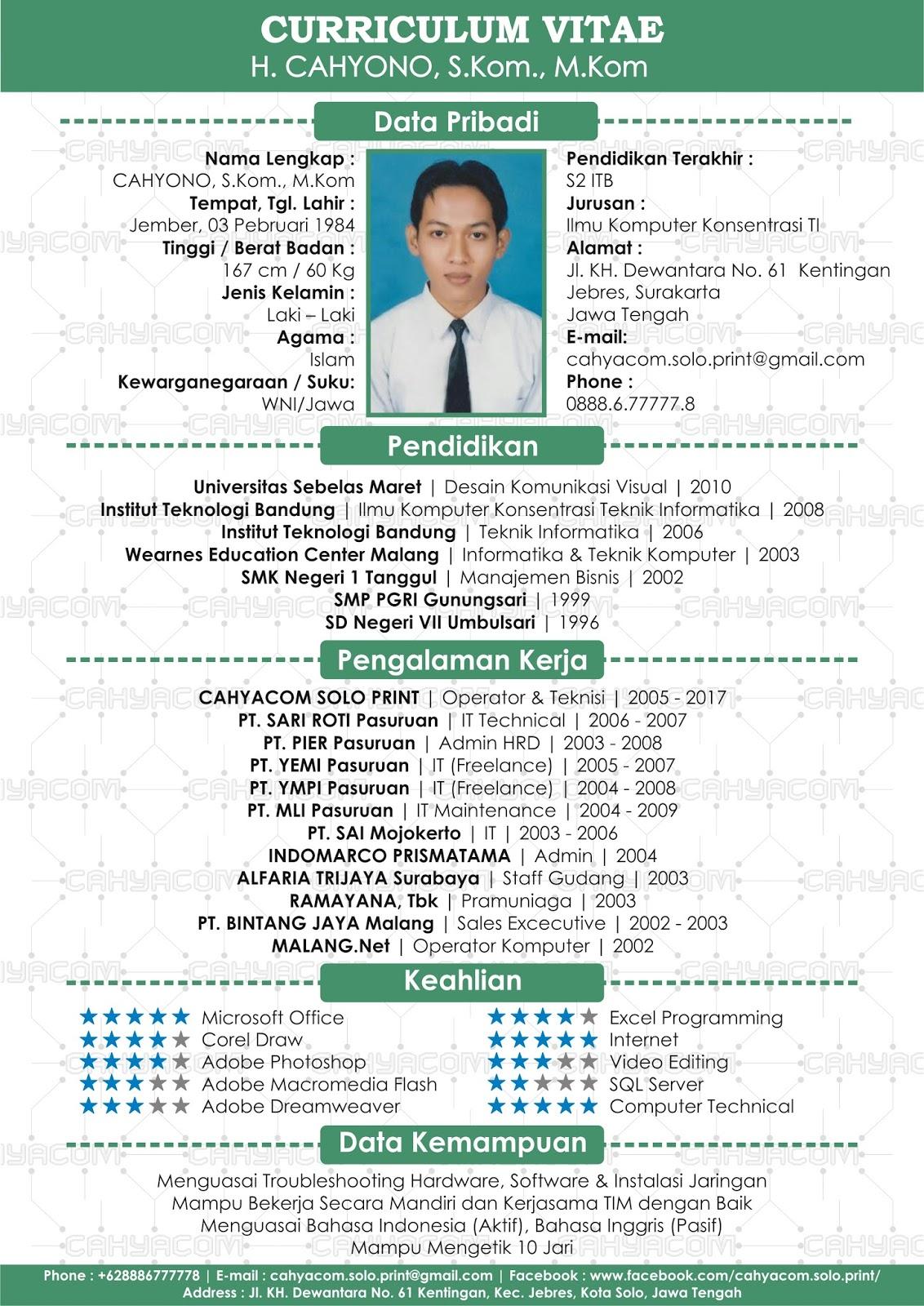 desain cv indonesia