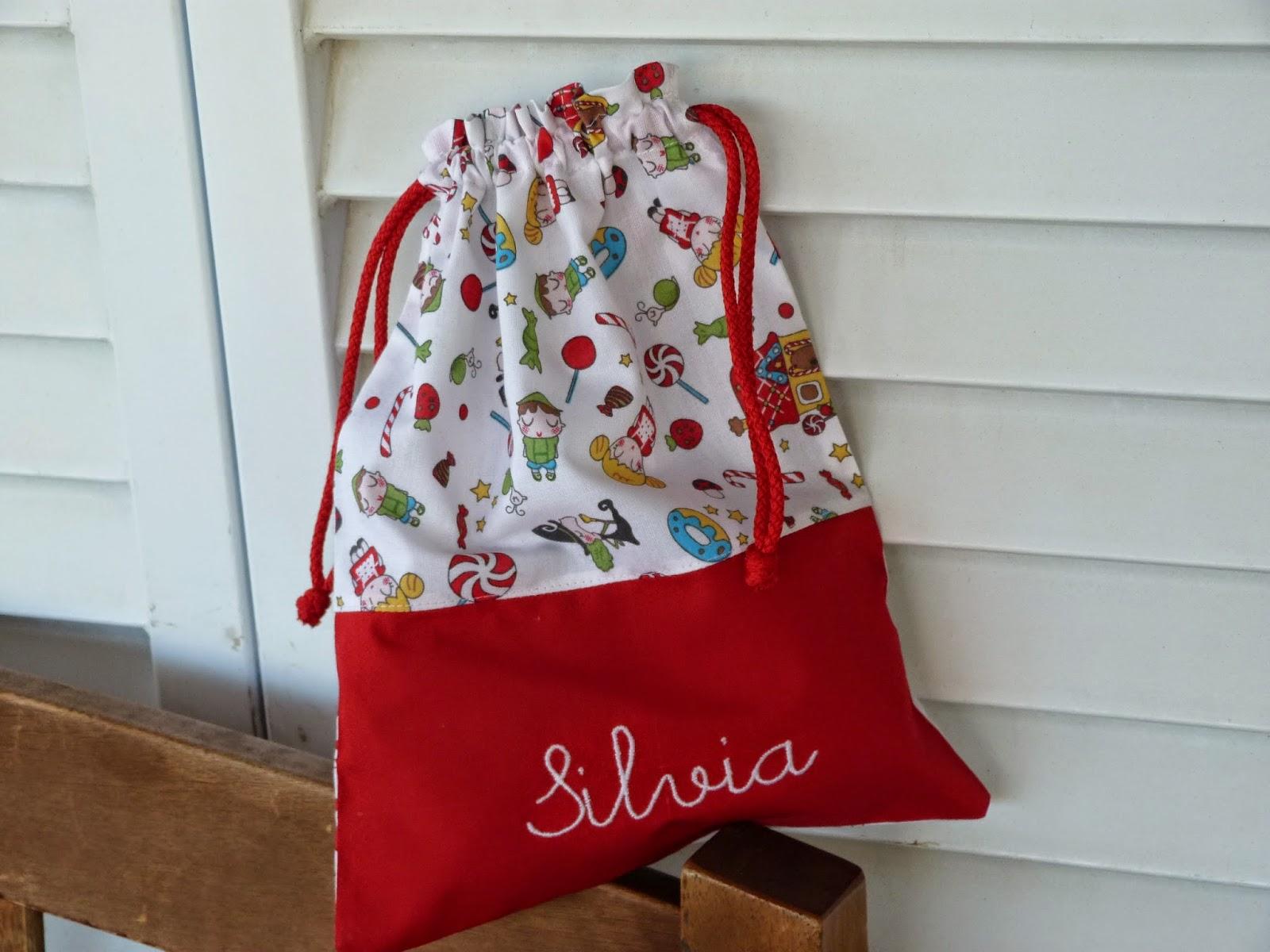 Con hilo y telas bolsas personalizadas para la vuelta al cole - Bolsas de tela para ninos ...