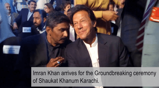 Groundbreaking Ceremony of 3rd SKMCH held in Karachi: Imran Khan lays foundation