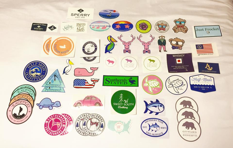 The Classic Brunette How To Get Free Preppy Stickers Giveaway