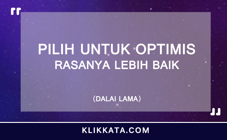 Kata Kata Optimis