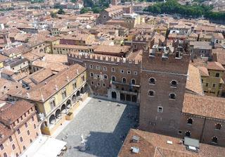 Plaza de los Señores o Signori de Verona desde la Torre de los Lamberti.
