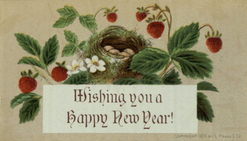 wishing you a happy new year 1876