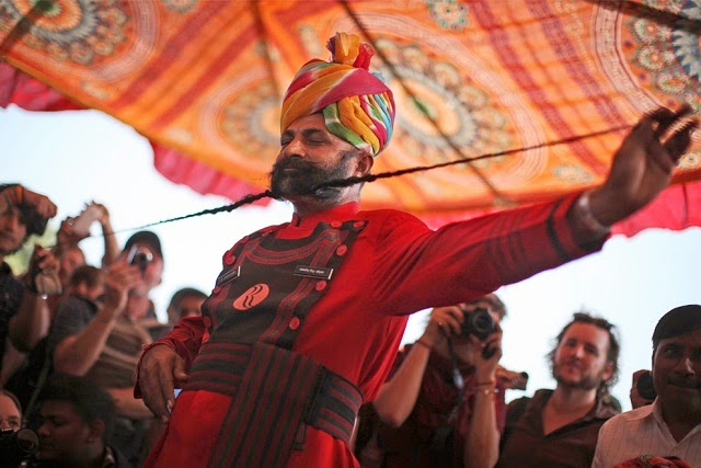 Moustache Competition at Pushkar Fair in Rajasthan