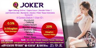 Bonus Cashback Agen QJoker Judi Sakong Online Terpercaya - www.Sakong2018.com