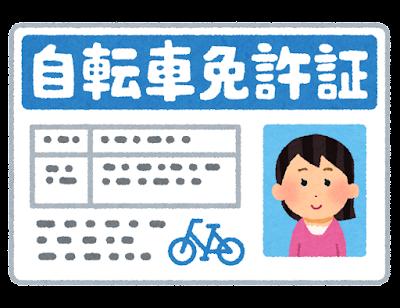自転車免許証のイラスト(女性)