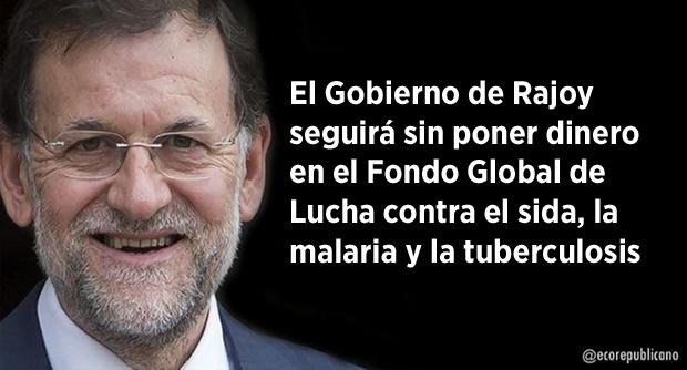 Rajoy seguirá sin dar fondos para la lucha contra el sida
