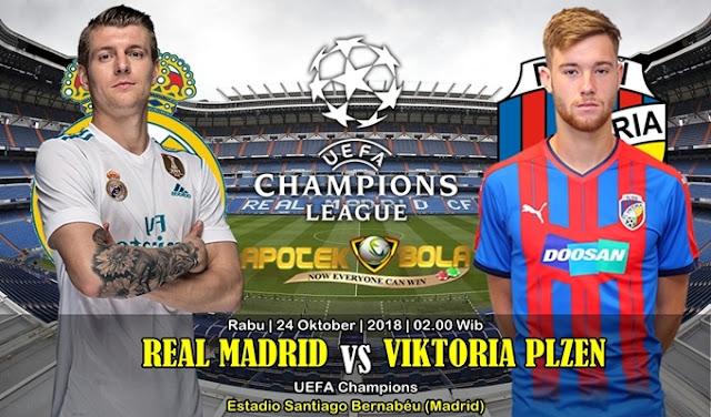 Prediksi Real Madrid vs Viktoria Plzen 24 Oktober 2018