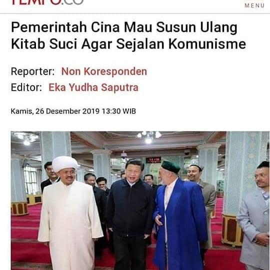 Pemerintah China Revisi Alqur'an