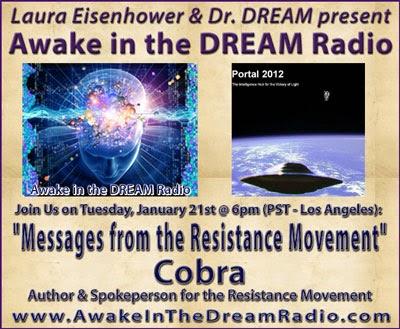 2014年1月22日讯息 『Dr. Dream 和Laura Eisenhower主持的柯博拉访谈节目』