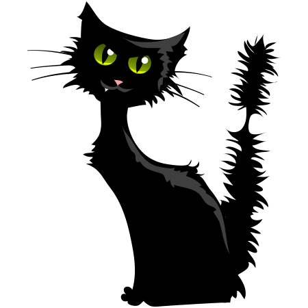 Halloween Black Cat Emoticon